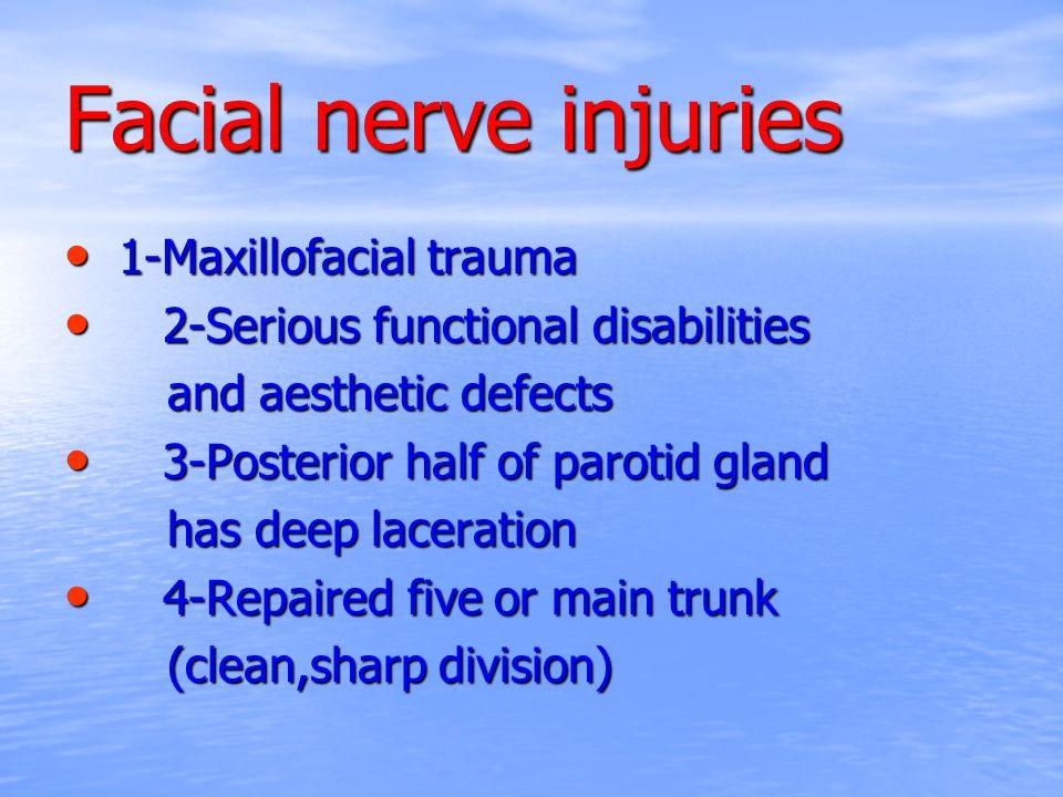Facial nerve injuries 1-Maxillofacial trauma