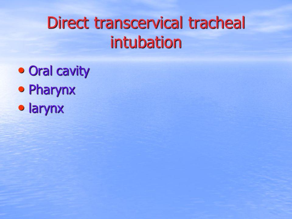 Direct transcervical tracheal intubation