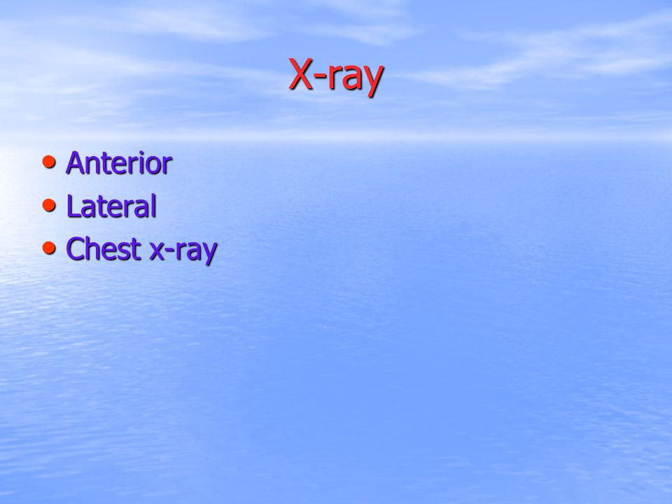 X-ray Anterior Lateral Chest x-ray