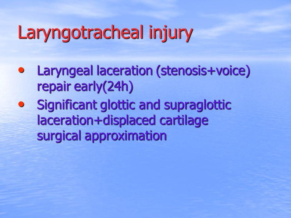 Laryngotracheal injury