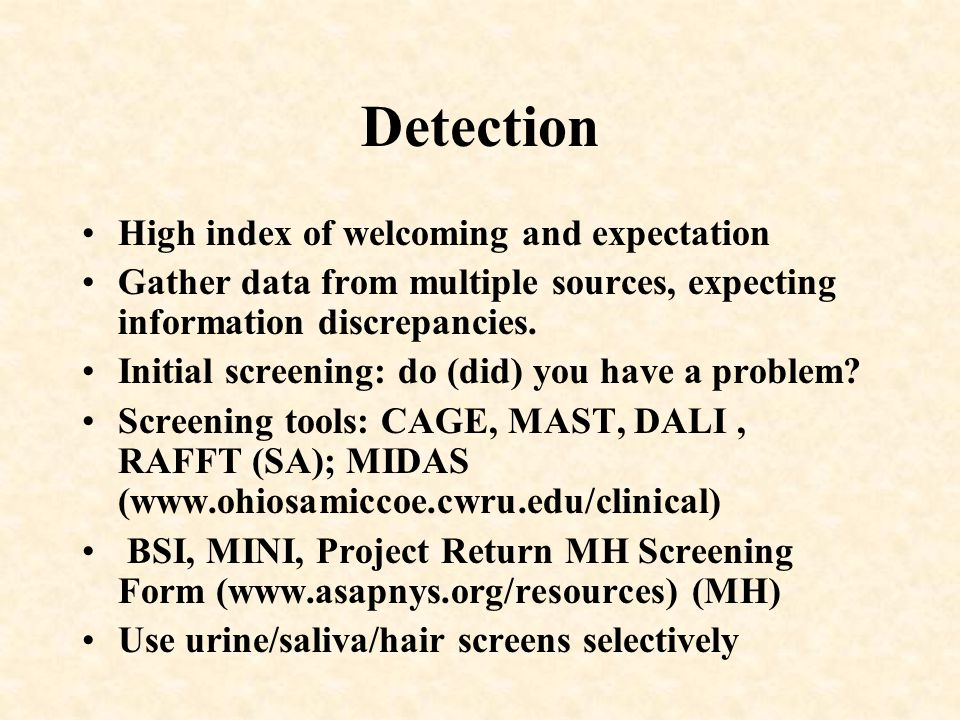 Detection High index of welcoming and expectation