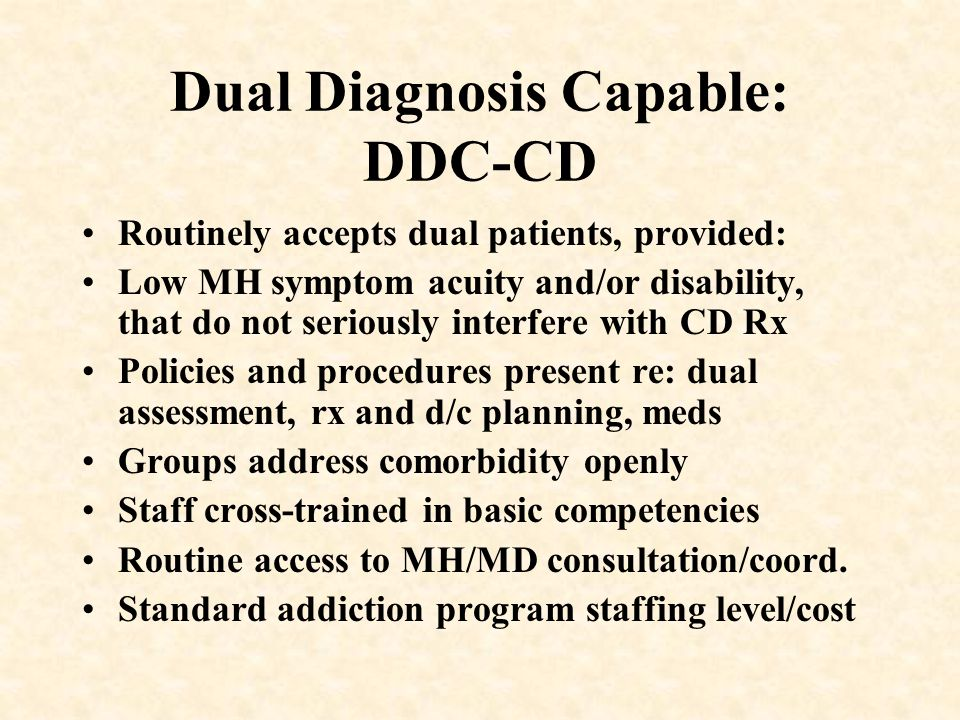 Dual Diagnosis Capable: DDC-CD