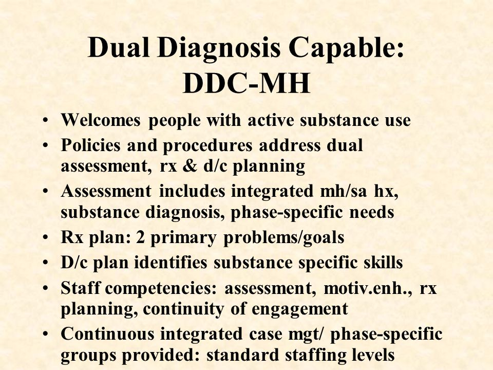 Dual Diagnosis Capable: DDC-MH