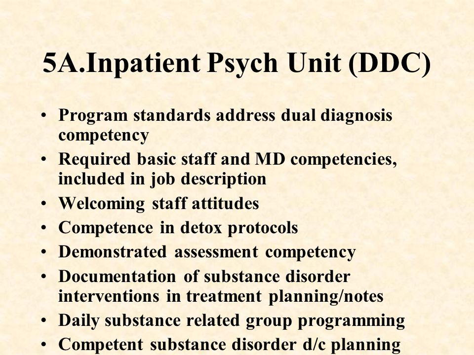 5A.Inpatient Psych Unit (DDC)