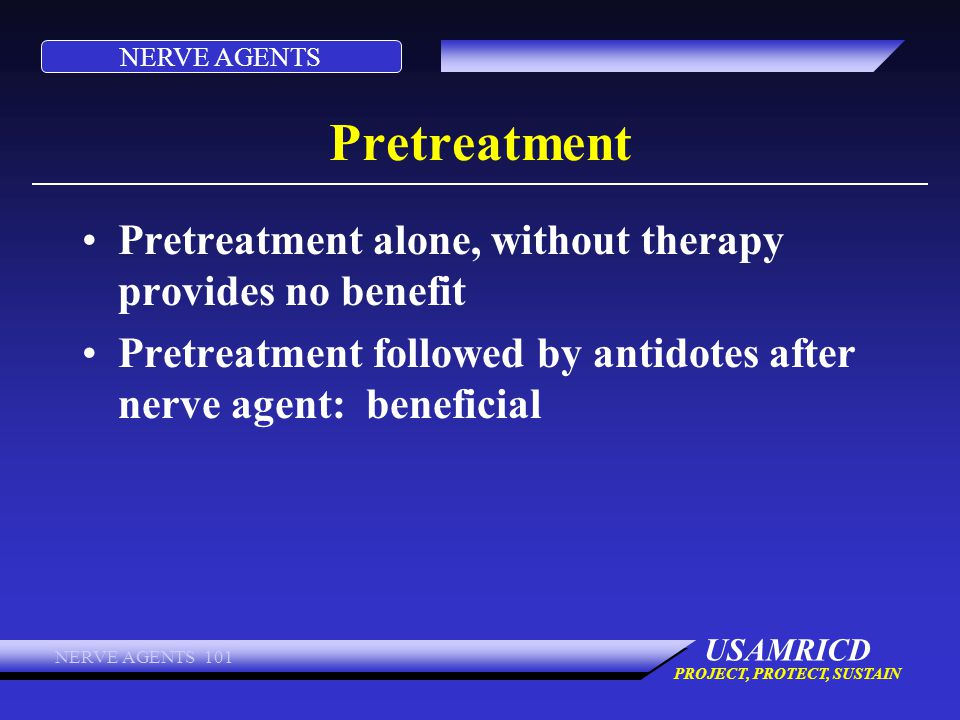 Pretreatment Pretreatment alone, without therapy provides no benefit