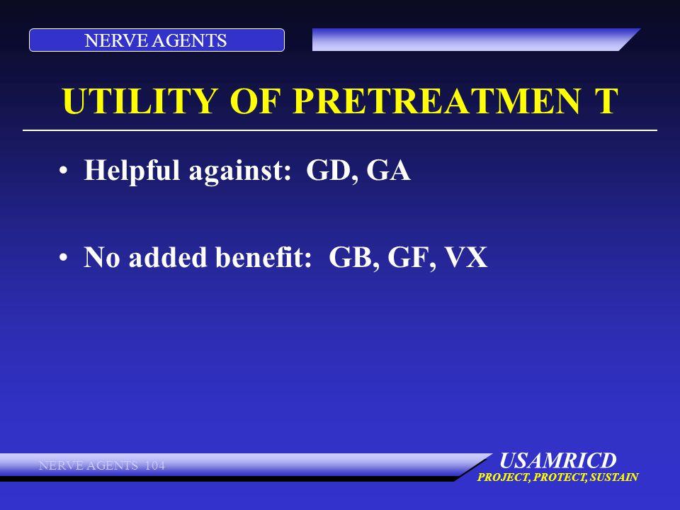 UTILITY OF PRETREATMEN T