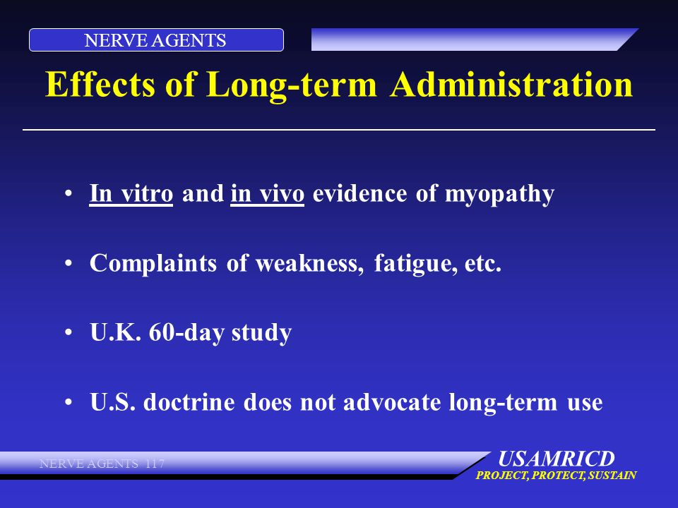 Effects of Long-term Administration