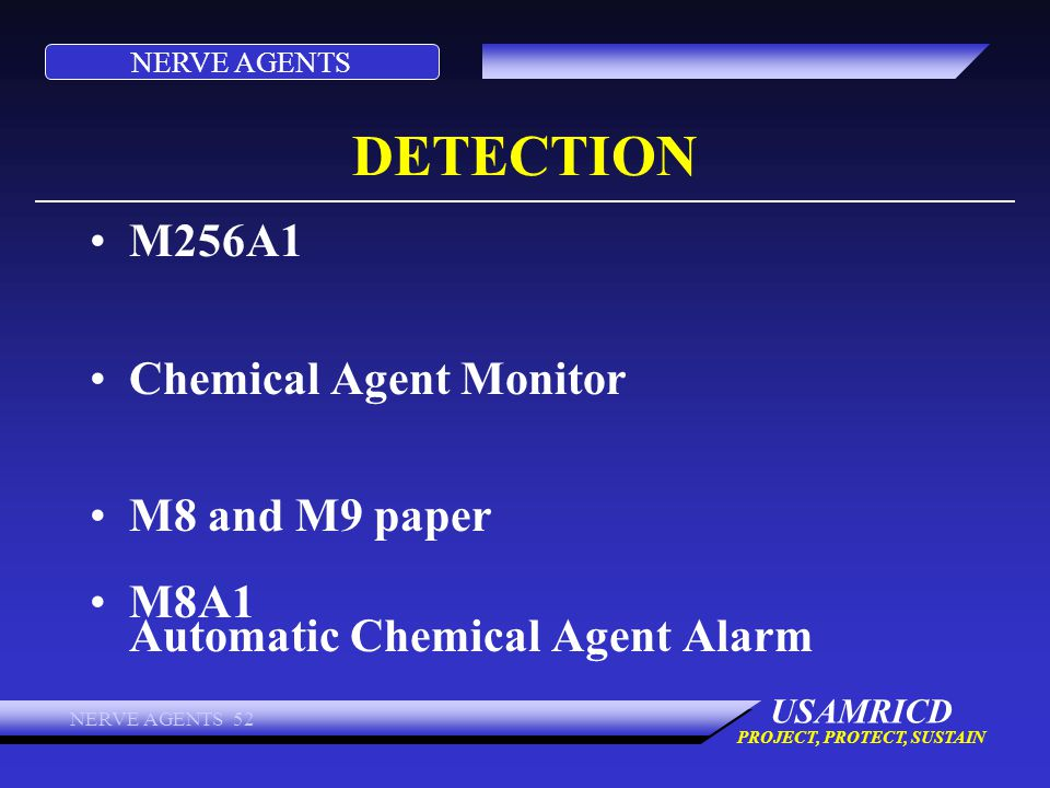 DETECTION M256A1 Chemical Agent Monitor M8 and M9 paper