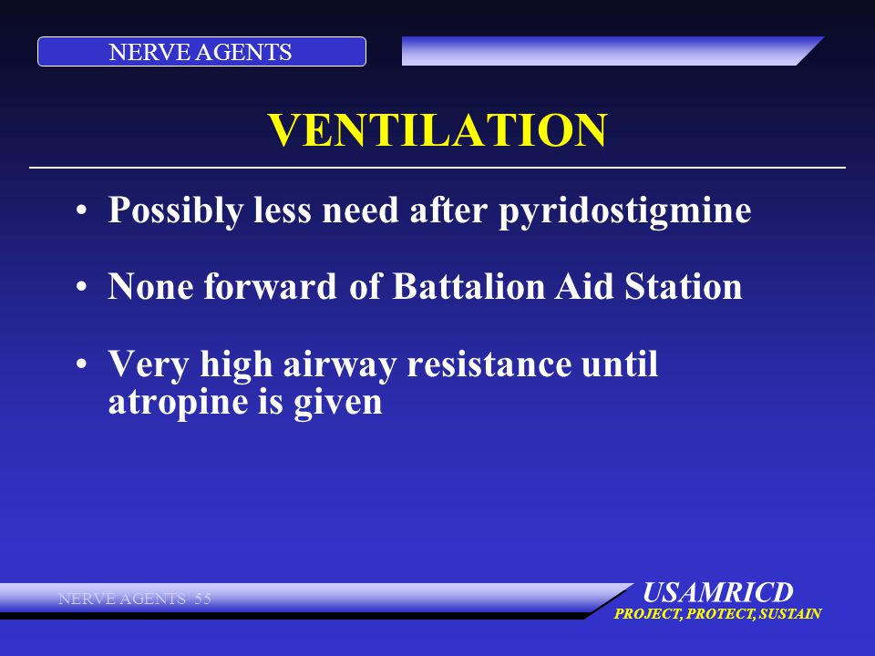 VENTILATION Possibly less need after pyridostigmine