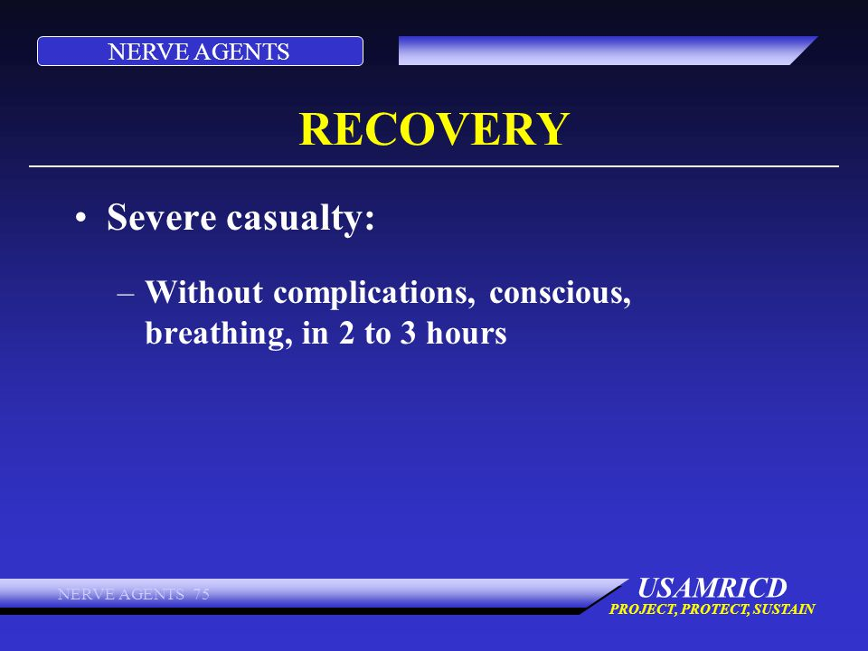RECOVERY Severe casualty: