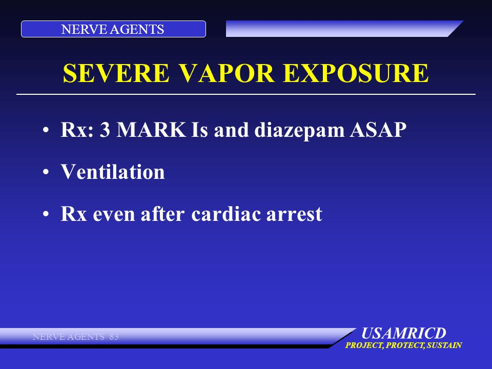 SEVERE VAPOR EXPOSURE Rx: 3 MARK Is and diazepam ASAP Ventilation