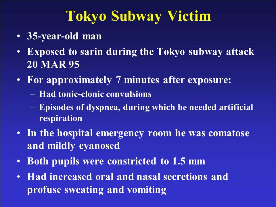 Tokyo Subway Victim 35-year-old man