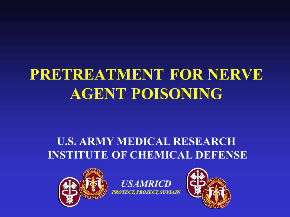 PRETREATMENT FOR NERVE AGENT POISONING