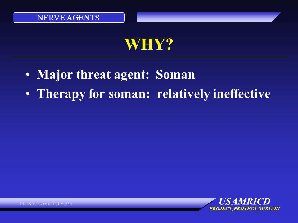 WHY Major threat agent: Soman