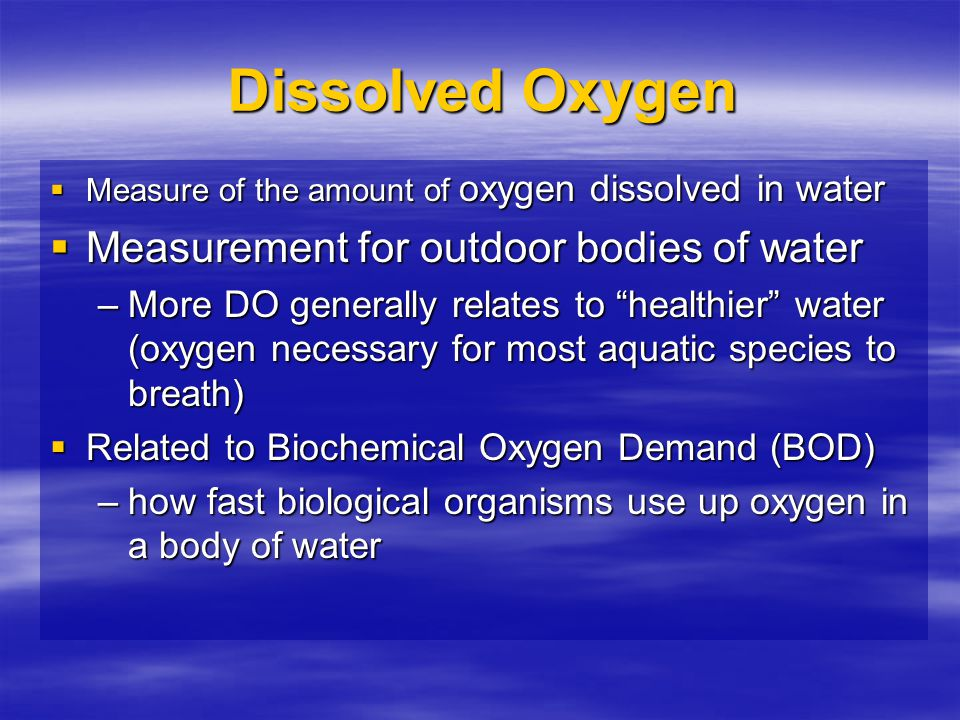 Dissolved Oxygen Measurement for outdoor bodies of water