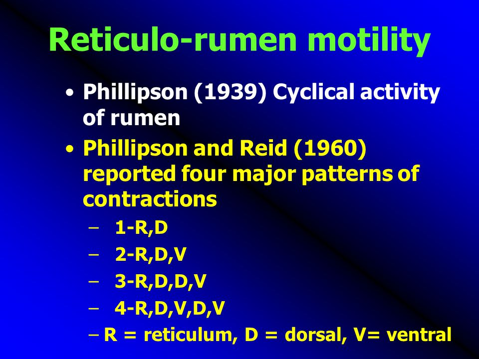 Reticulo-rumen motility
