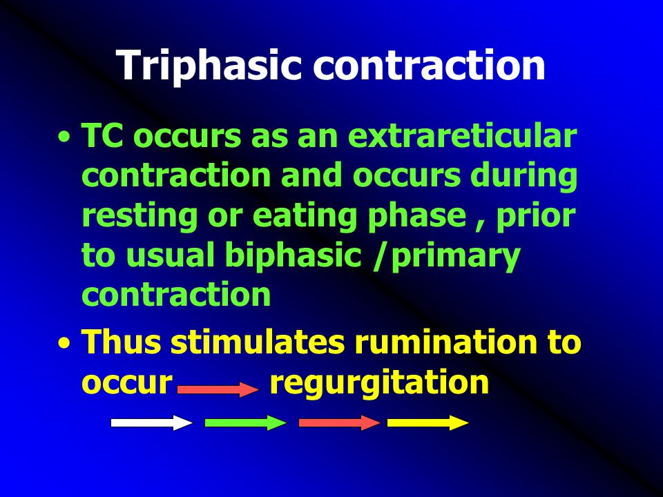 Triphasic contraction
