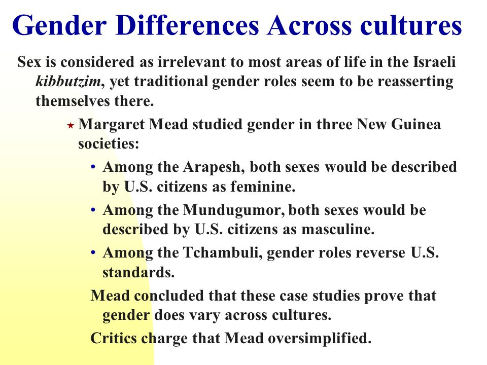 Gender Differences Across cultures