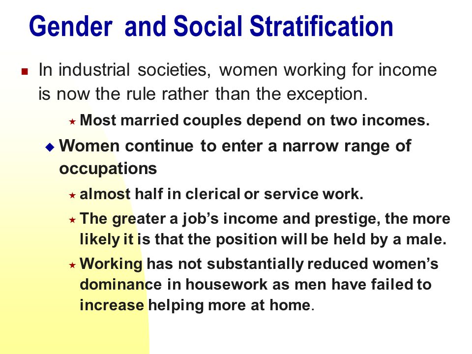 gender stratification workplace essays
