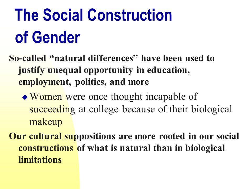 Social Construction Gender Differences Essay