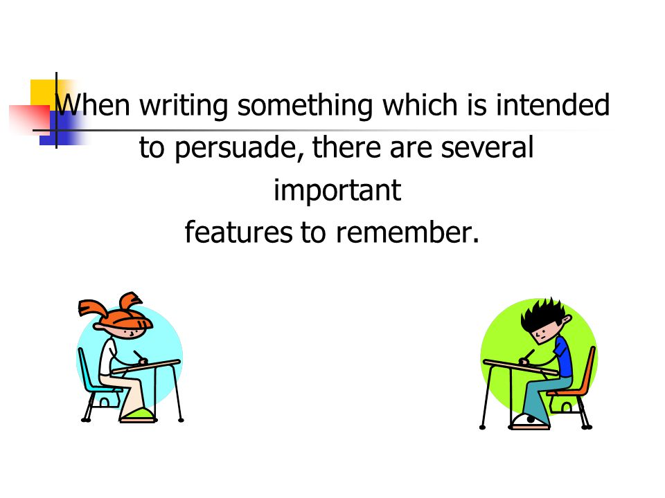 When writing something which is intended