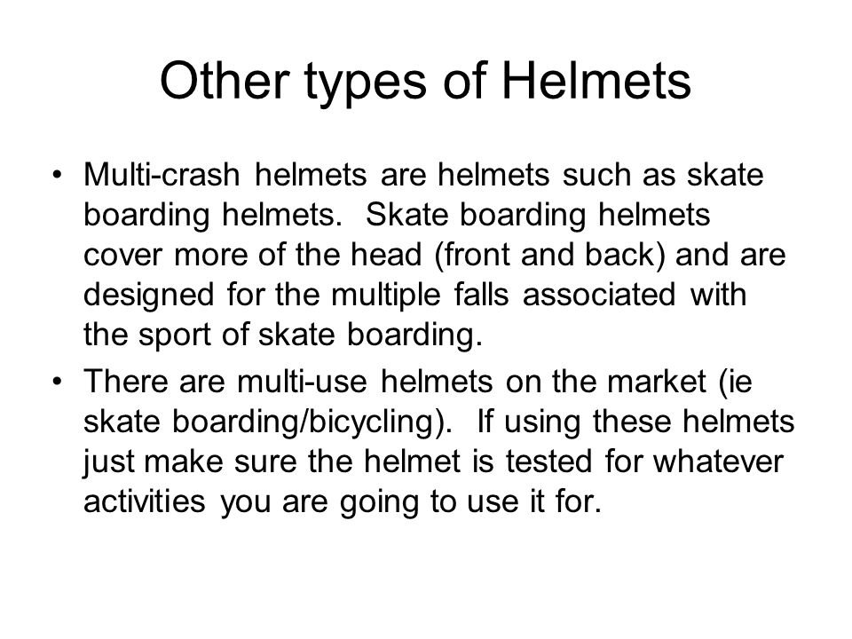 Other types of Helmets