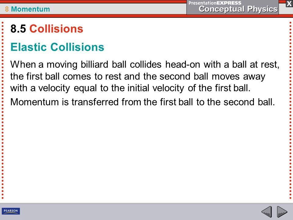 8.5 Collisions Elastic Collisions