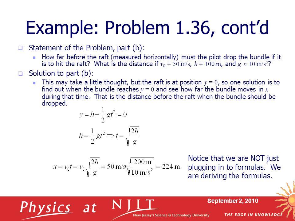 Example: Problem 1.36, cont'd