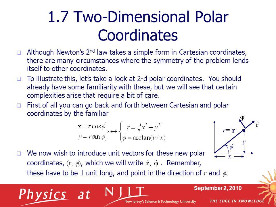 1.7 Two-Dimensional Polar Coordinates