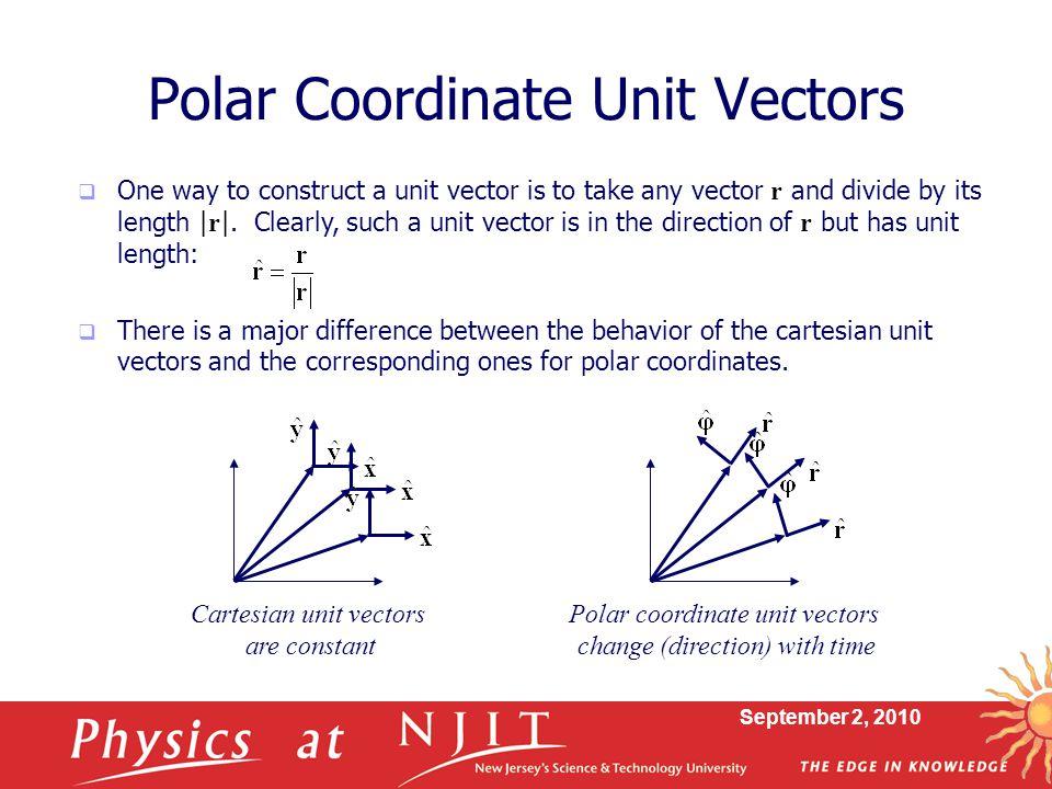 Polar Coordinate Unit Vectors