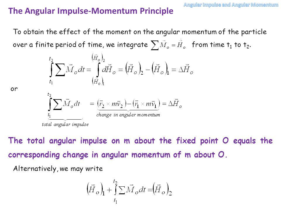 The Angular Impulse-Momentum Principle