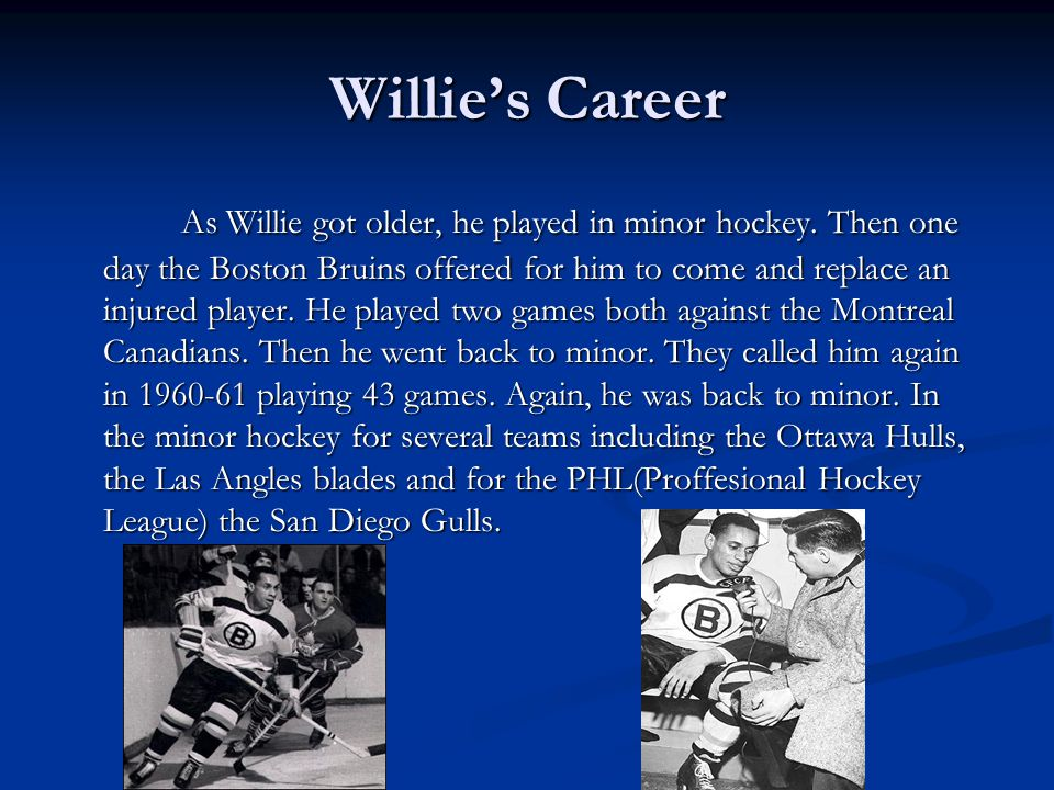 Willie's Career