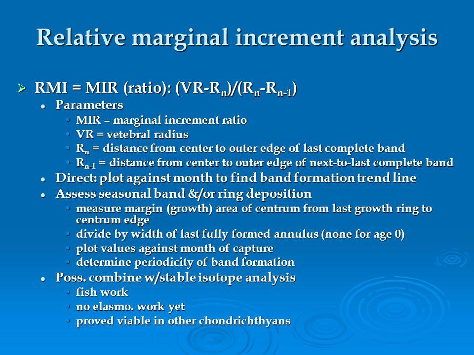 Relative marginal increment analysis