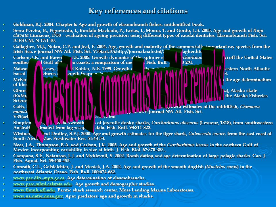 Key references and citations