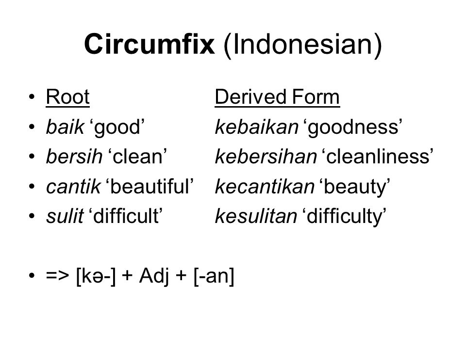 Circumfix (Indonesian)