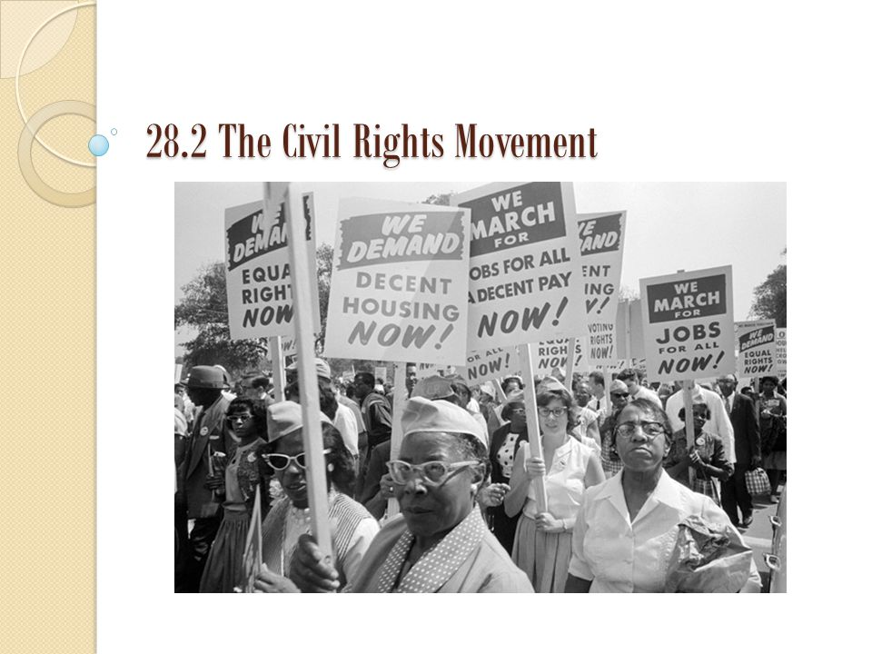 28.2 The Civil Rights Movement