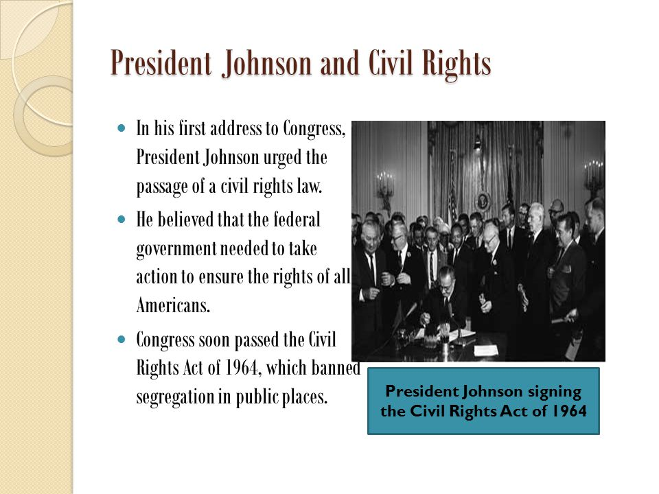President Johnson and Civil Rights