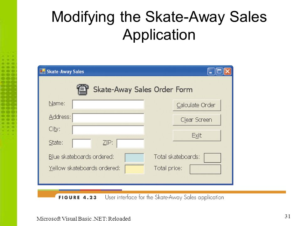 Modifying the Skate-Away Sales Application