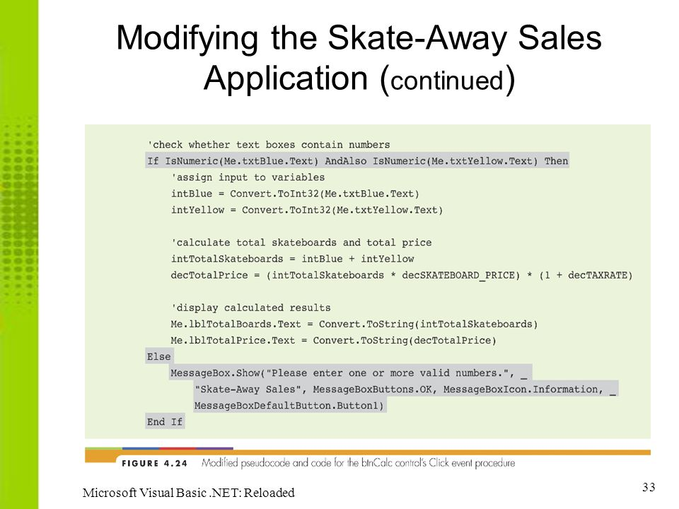 Modifying the Skate-Away Sales Application (continued)
