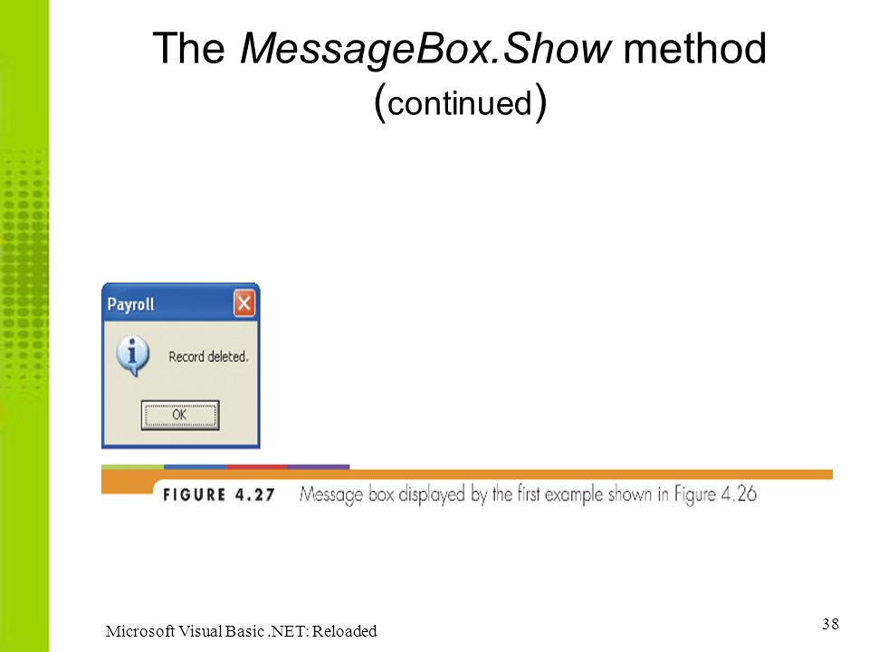The MessageBox.Show method (continued)