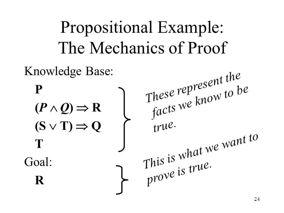 Propositional Example: The Mechanics of Proof