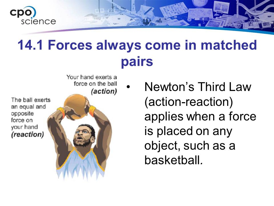 14.1 Forces always come in matched pairs