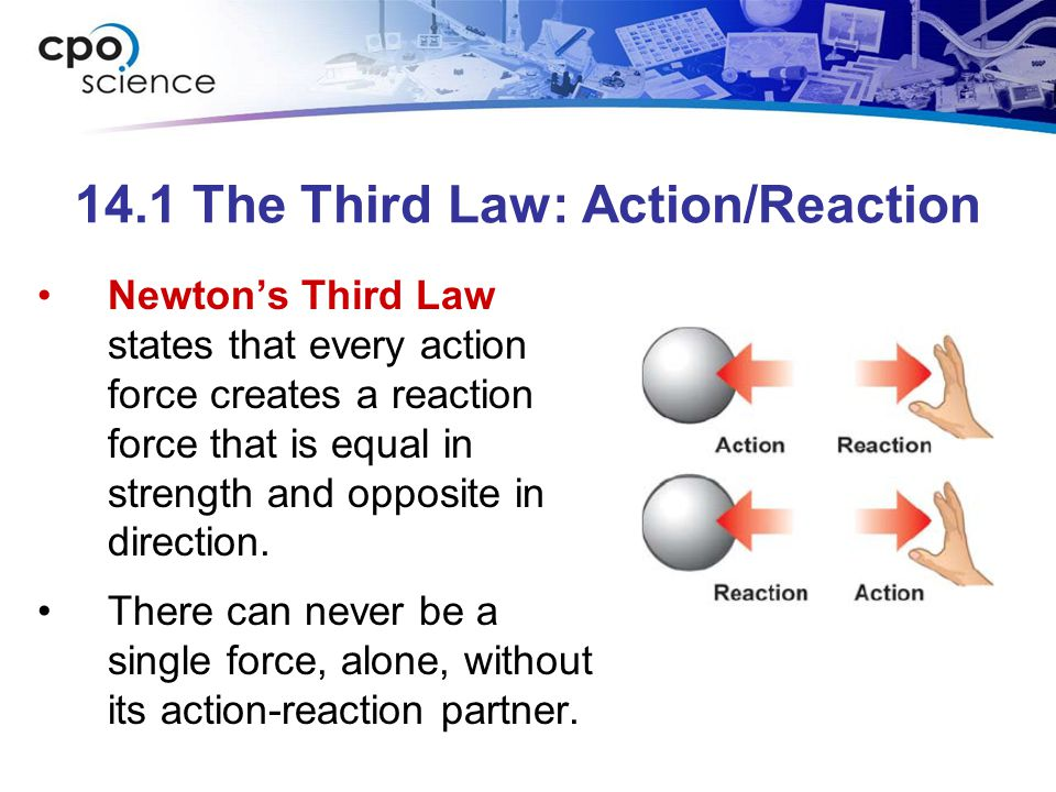 14.1 The Third Law: Action/Reaction