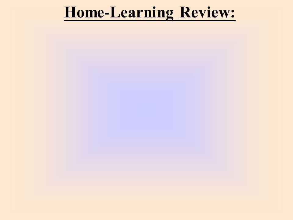 Home-Learning Review: