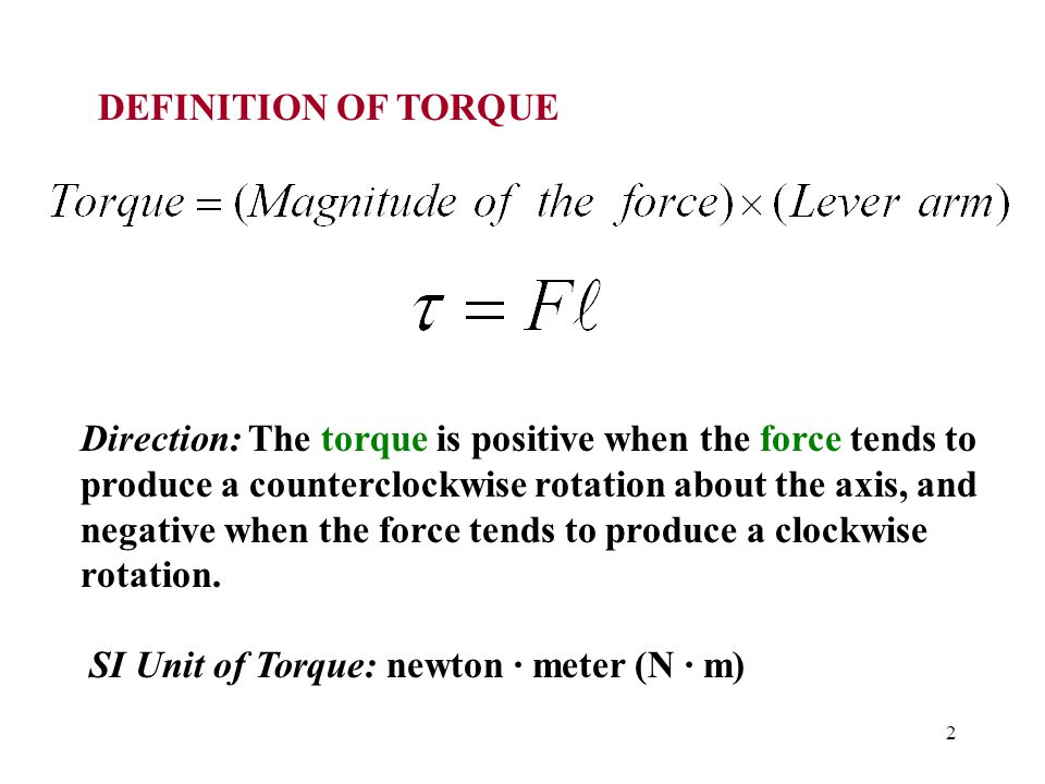DEFINITION OF TORQUE