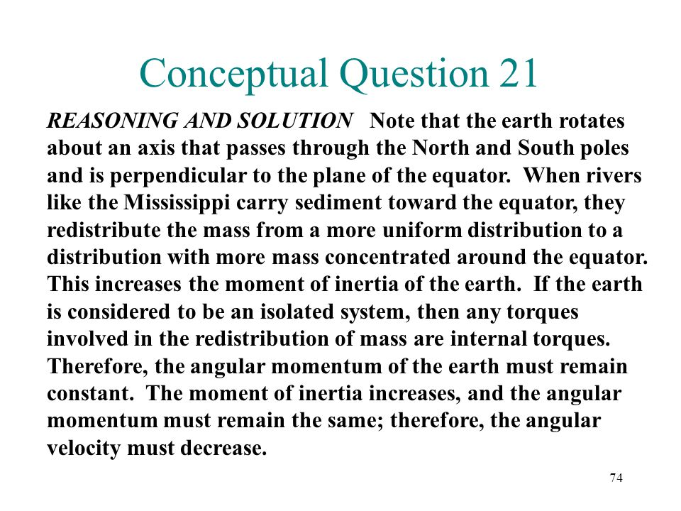 Conceptual Question 21