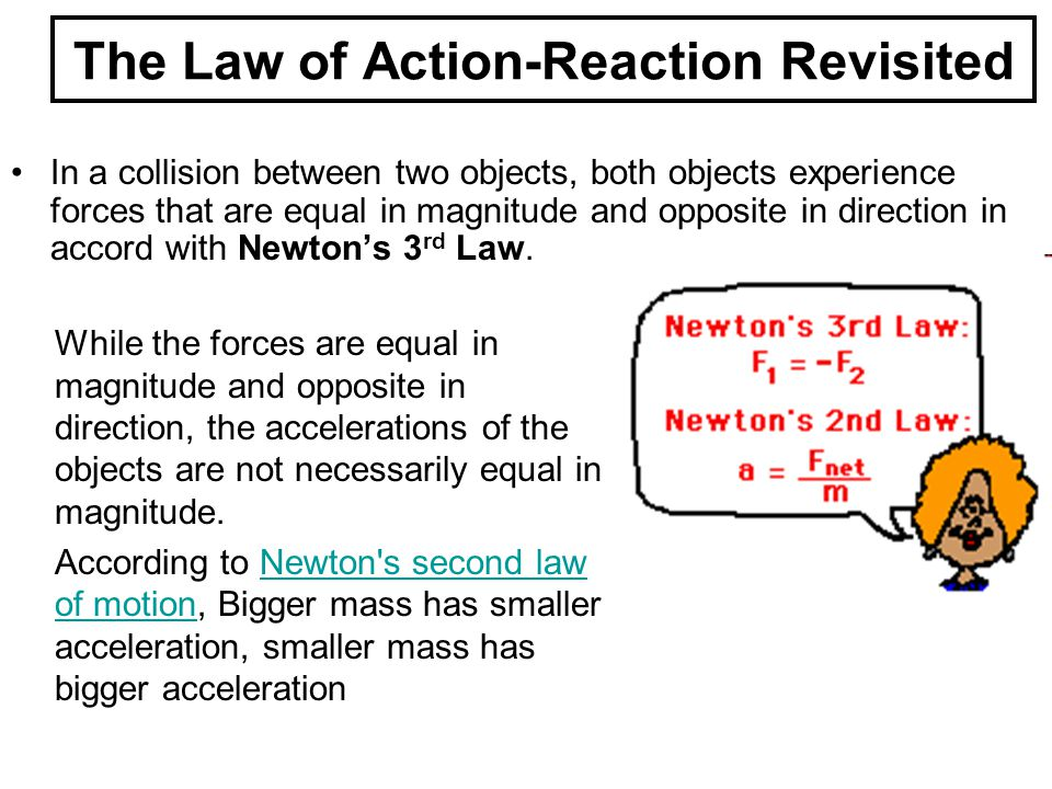 The Law of Action-Reaction Revisited