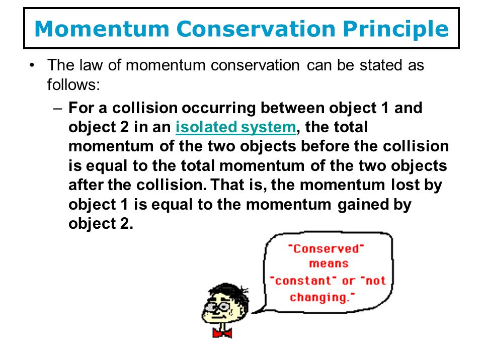 Momentum Conservation Principle
