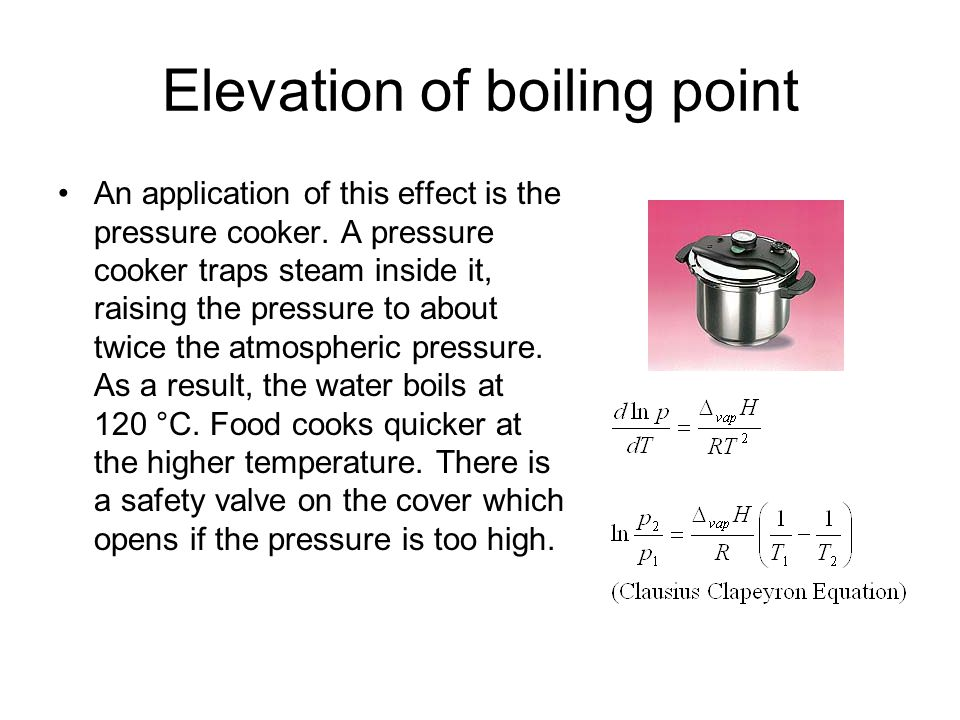 Elevation of boiling point