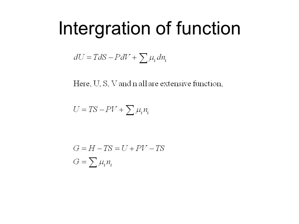 Intergration of function